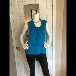 George brand sleeveless aquamarine blouse